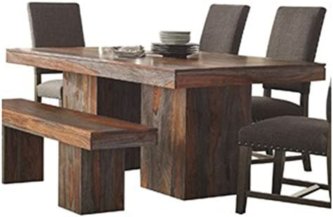 Binghamton Sheesham Dining Table Grey Sheesham