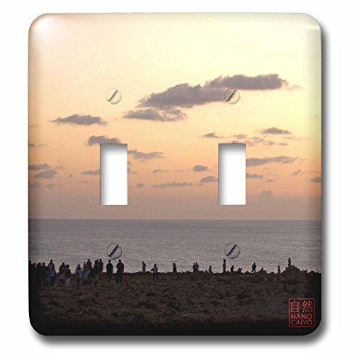 3dRose LLC lsp_107481_2 People Enjoying Sunset at Es' Cap De Barbarian, Formentera, Spain Double Toggle Switch by 3dRose