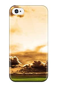 Durable Defender Case For Iphone 4/4s Tpu Cover(burning Sky Nature Other)