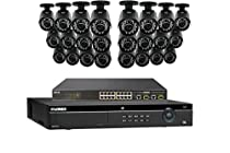 Lorex 4K 32 Channel 4MP Security System NR9326 6TB HDD 24 Camera system with 24 4MP LNB4421B Bullet Cameras
