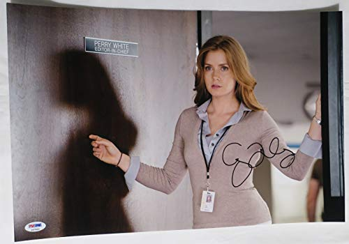 Amy Adams Signed Man of Steel Authentic Autographed 12x18 Photo PSA/DNA #X47953