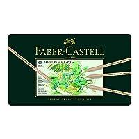 Faber-Castel FC112160 PITT Lápices de pastel en una lata de metal (paquete de 60), surtidos