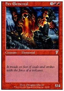 Magic: the Gathering - Fire Elemental - Seventh Edition