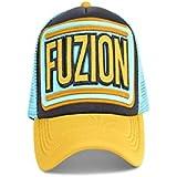 Fuzion Classic Aqua Yellow Cap