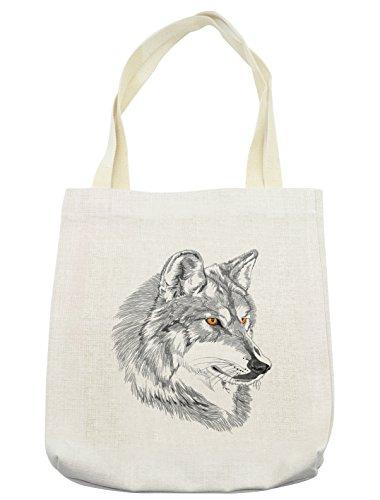Beach Themed Costumes Ideas - Lunarable Tattoo Tote Bag, Handmade Sketch