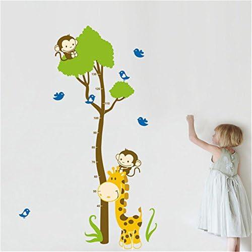 Wandlineal Aufkleber f/ür Kinder Hanwuo Messlatte f/ür Baby-Wachstum Jungen und M/ädchen