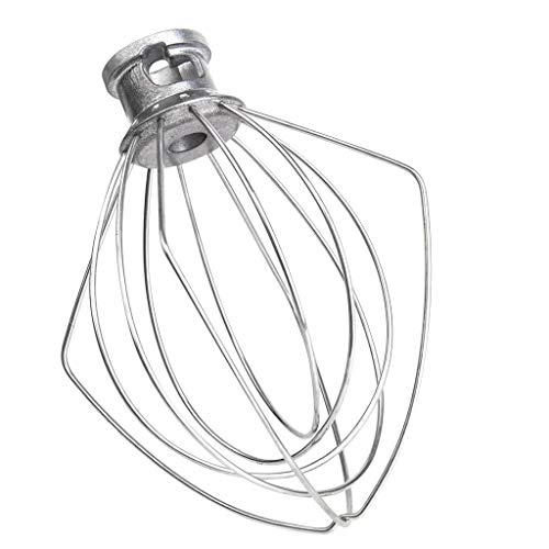 GJK-SION Wire Whip for Tilt-Head Stand Mixer for KitchenAid, Stainless Steel Egg Cream Stirrer, Heavy Cream Beater, Cakes Flour Mayonnaise Whisk - Good Helper on Kitchen (Silver) ()