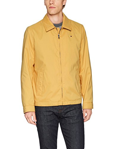 Tommy Hilfiger Men's Lightweight Microtwill Golf Jacket, Yellow, Large