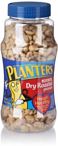 Planters Dry Roasted Peanuts, Unsalted, 16 Oz