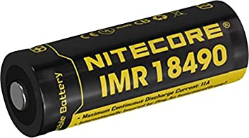 Nitecore 18490IMR Spezial-batería Recargable 18490 Li-Ion 3.7V 1100 mAh