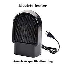 Miseku 500W US/EU Plug Portable Desktop Electric One Button Switch Space Heaters