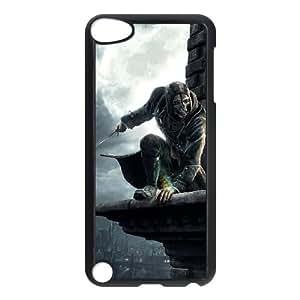 Dishonored 2 funda iPod Touch 5 caja funda del teléfono celular negro cubierta de la caja funda EEECBCAAB14563