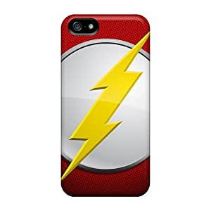 New Premium Flip Case Cover The Flash Skin Case For Iphone 5/5s