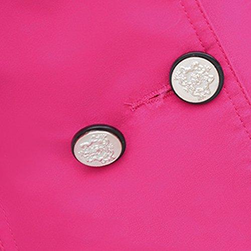 XXL Jacket Mujer Otoño Rosado Crusader Color Trinchera Invierno Primavera Tamaño Mujer Coat Oudan Trench Cotton X0a6c