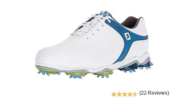 FootJoy Tour S, Horma Ancha. Zapatillas de Golf para Hombre, Blanco (Blanco/Azul 55301), 44.5 EU: Amazon.es: Zapatos y complementos