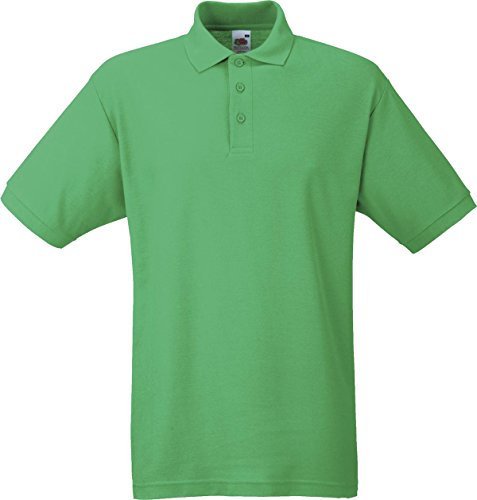 Fruit of the Loom Herren Piqué Poloshirt aus Mischgewebe 63-402-0 Kelly Green 3XL