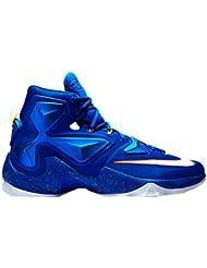 Nike Mens  Lebron XIII Blue Basketball Shoe - 10 D(M) US