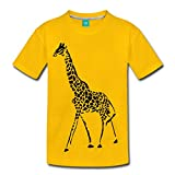 Spreadshirt Giraffe Exotic Animals Wildlife Toddler Premium T-Shirt, Youth 4T, Sun Yellow