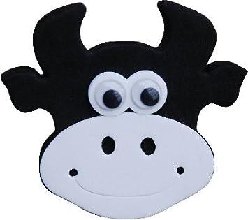 Cute Vaca Cara coche antena bola de antena Topper: Amazon.es ...
