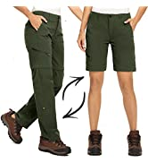 Women's Hiking Pants Quick Dry Convertible Stretch Lightweight Outdoor UPF 40 Fishing Safari Trav...