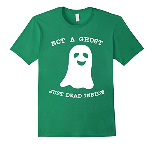 Mens Not A Ghost Just Dead Inside T-Shirt - Halloween Costume Large Kelly Green