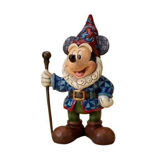 Disney Traditions designed by Jim Shore for Enesco Mickey Mouse Garden Gnome Figurine 15 IN