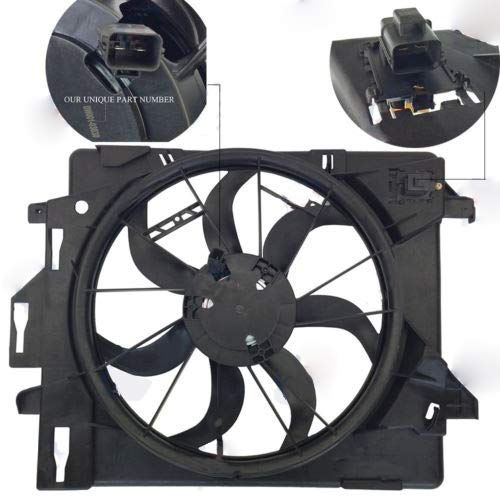(New Radiator AC Condenser Cooling Fan fits Dodge Grand Caravan 08-18 Chrysler Pacifica 2017 Town & Country 08-16 3.3L 3.6L 3.8L 4.0L V6 5058674AA CH3115157 BES51-100109)