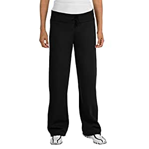 Sport-Tek Ladies Fleece Pant, Black, 2X