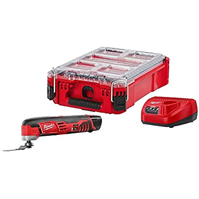 Milwaukee M12 12-Volt Lithium-Ion Cordless Oscillating Multi-Tool Kit with (1) 1.5Ah Battery, Charger and Packout Case