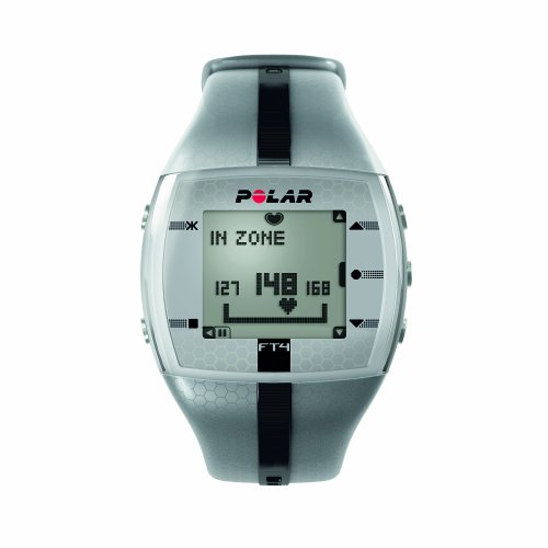 Cheap Polar FT4 Heart Rate Monitor Watch (Silver / Black)