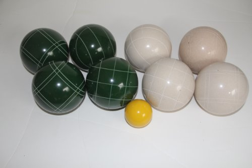 Premium Quality Epco Tournament Set - 110mm White and Green Bocce Balls - No BAG Option [Toy] by Epco