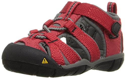 KEEN Seacamp II CNX Sandal (Toddler), Racing Red/Gargoyle, 4 M US Toddler ()