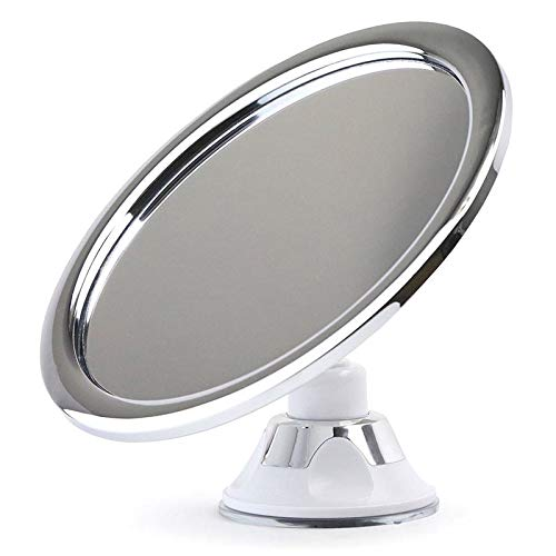 MongKok 1213//5000 Fogless Makeup Mirror with Holder Suction Cup 360 Rotation Shower Shaving Mirror