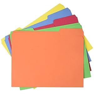 AmazonBasics AMZ401  File Folders – Letter Size (100 Pack) – Assorted Colors