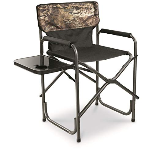 Guide Gear Oversized Tall Director's Chair, 500 lb. Capacity, Mossy Oak Break-Up Country (Outdoor Director Chair)