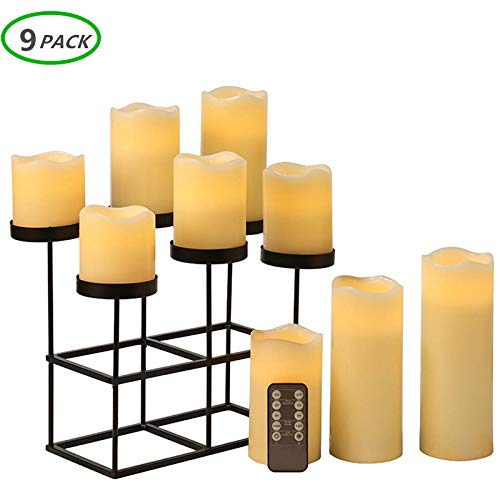 - Flameless Candles LED Candle Set of 9 (D 3