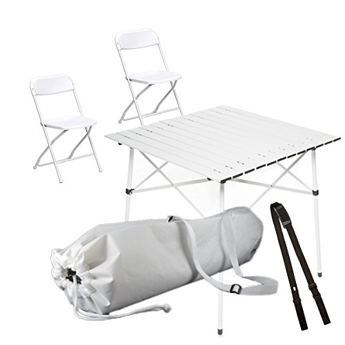 WhiteAppeal Folding Table & Chairs Package for Diner en Blanc