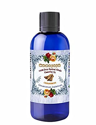 CINNAMON ESSENTIAL OIL 100 ML Organic Pharmaceutical Therapeutic Grade A Wellness Relaxation 100% Pure Undiluted Steam Distilled Natural Aroma Premium Quality Aromatherapy diffuser Skin Hair Body