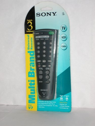 Sony Multi Brand Universal Remote, Controls 3 Components -  RM-V7
