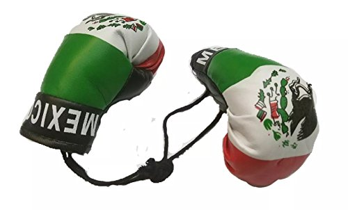 Flag Boxing Gloves - BUNFIREs Mexico Boxing Glove Banner Flag Window Mirror Mexican Pride