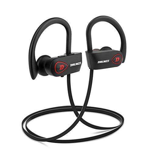 DRUMZZ Boosh Wireless Bluetooth Earphone Sports Headphones Waterproof IPX7 Headsets with Mic, CVC 6.0 and Long Battery Life