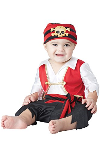 Boy Costumes 2016 Baby (California Costumes Baby Boys' Pee Wee Pirate Infant, Black/White/Red, 18 to 24)