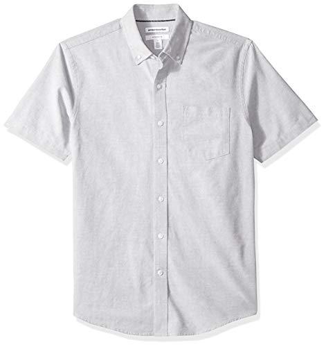 grey Slim Pocket fit Gre Solid Amazon Oxford sleeve Short Essentials Gris Yz1nwq5aH