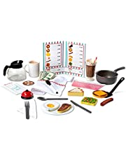 Melissa & Doug Star Diner Restaurant Play Set (Toy Diner Set, 41 Pieces)