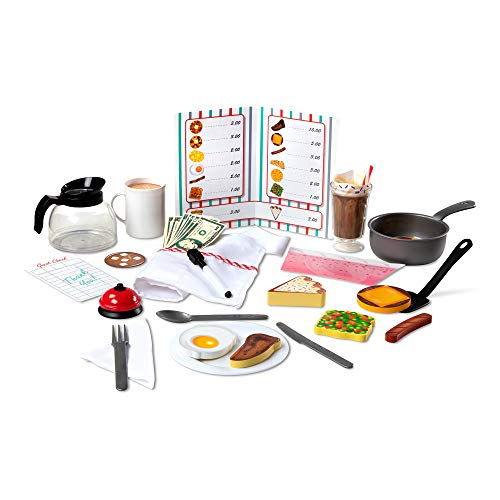 Melissa & Doug Star Diner Restaurant Play Set (Toy Diner Set, 41 Pieces, Great Gift for Girls and Boys - Best for 3, 4, 5 Year Olds and Up)