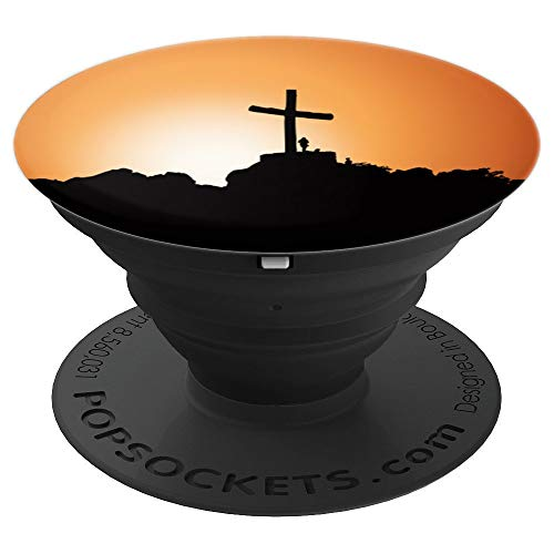 Cross Holy Jesus Christian Faith in God Crucifix Design - PopSockets Grip and Stand for Phones and Tablets