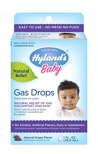 Hyland's Baby Gas Drops, 1 Fluid Ounce (Hylands 4 Kids Cold N Cough Dosage)