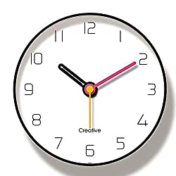 TRSMXYW Wall Clocks for Living Room Radio Controlled Background Mute Hanging Table Trend Creative Style Nordic Fashion Creative Beautiful and Durable Easy to Install