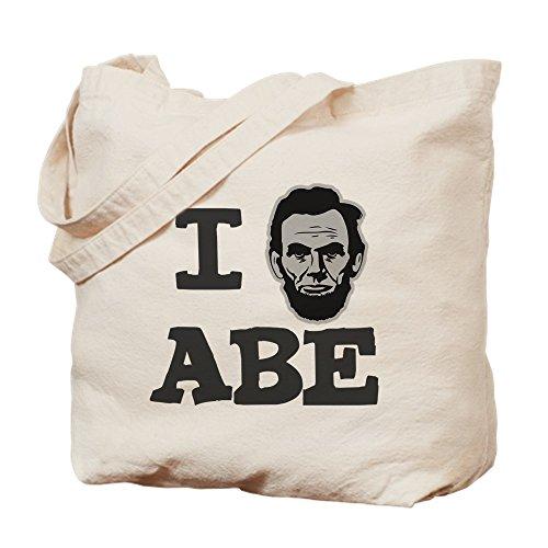 CafePress - I-Love-Abe-Grey - Natural Canvas Tote Bag, Cloth Shopping Bag