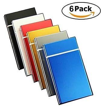 Amazon.com: Paquete de 6 cajas de metal para cigarrillos de ...